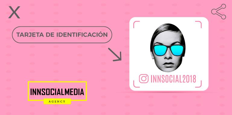 Nametag, tarjetas de identificación de Instagram