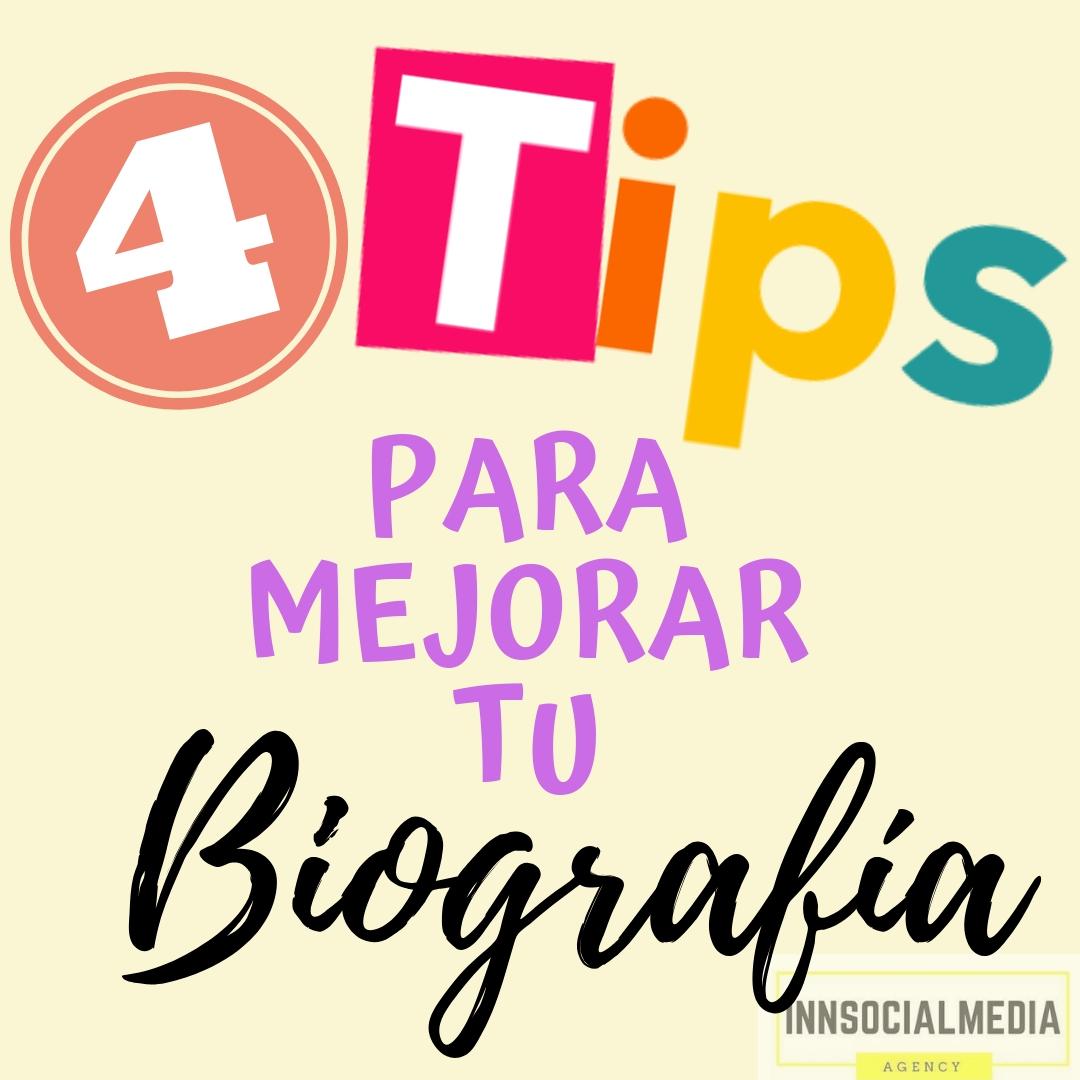 Cuatro Tips para mejorar tu Bio en Instagram
